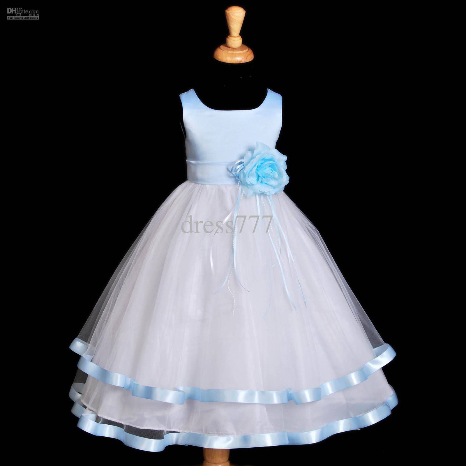 baby blue flower girl dresses wwwpixsharkcom images