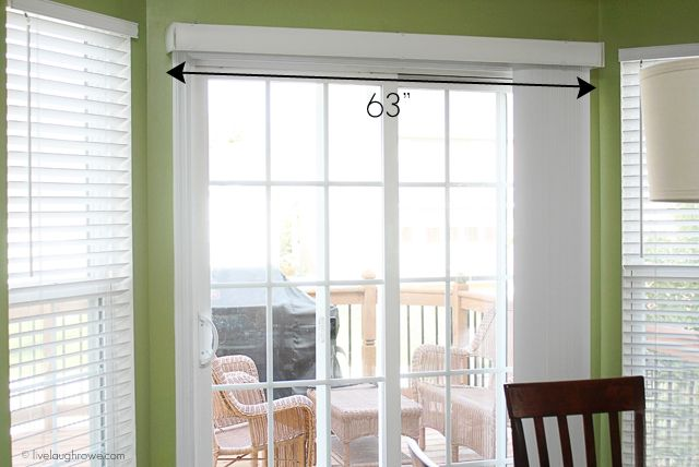 How To Build A Wood Cornice Box With Attached Curtain Rod Wood Cornice Sliding Glass Door Diy Window Treatments