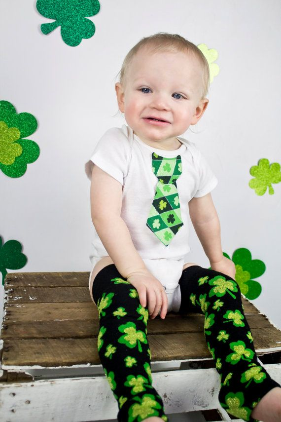 Hey, I found this really awesome Etsy listing at https://www.etsy.com/listing/91891007/st-patricks-day-baby-boy-tie-one-piece