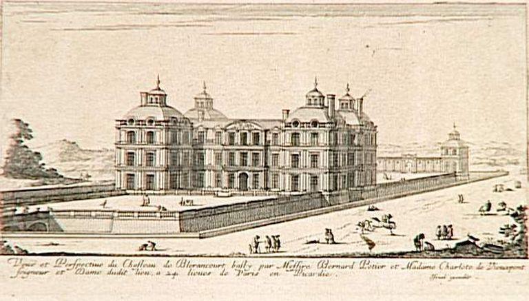 Gravure du ch teau de bl rancourt israel silvestre grand for Architecte grand palais