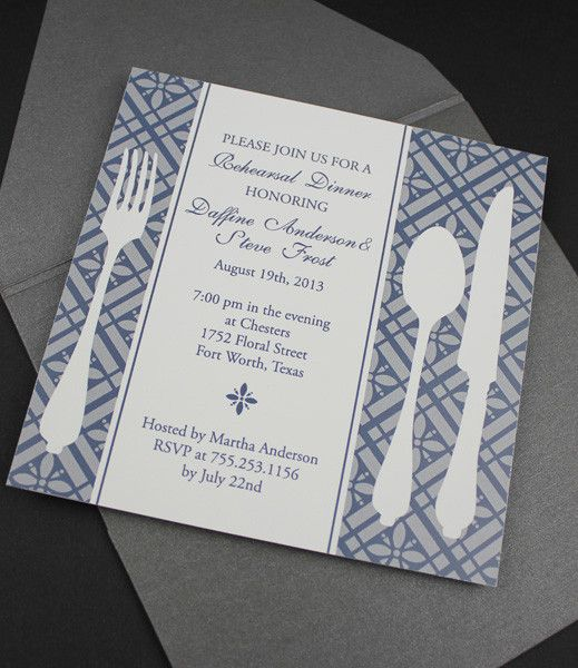 Dinner Invitation Template Delectable Invitation Template  Square Rehearsal Dinner Invitation  Dinner .