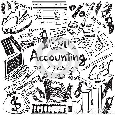 Accounting And Financial Education Handwriting Doodle Icon Of Ba Stock Vector - Illustration of annual, abacus: 66276433