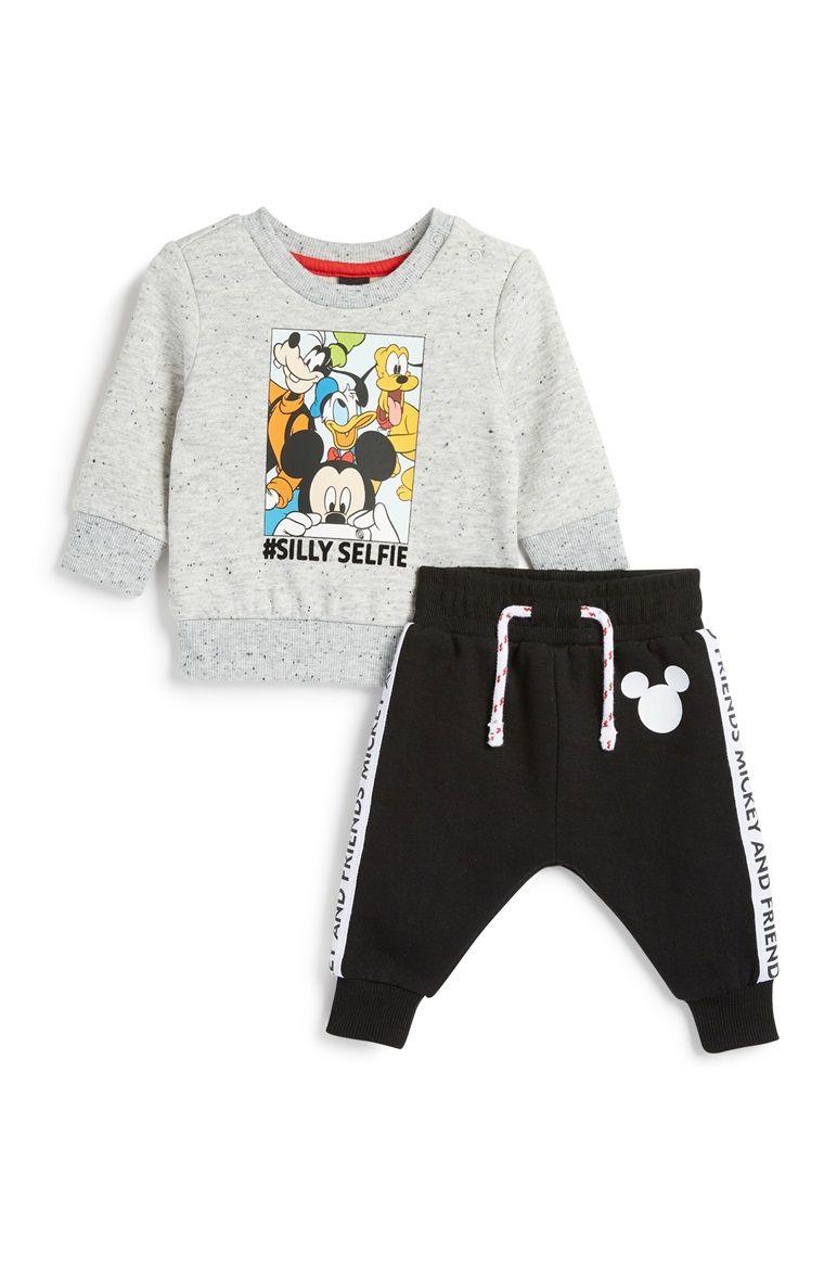 BABY BOY Animal Fun Long Sleeve Bodysuit Romper 3 PIECE SET 6-24 mos Size 0//1//2