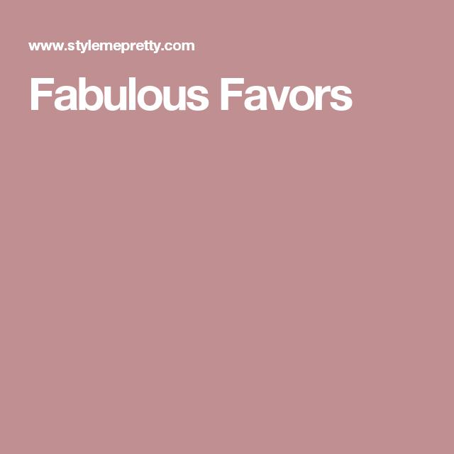 Fabulous Favors
