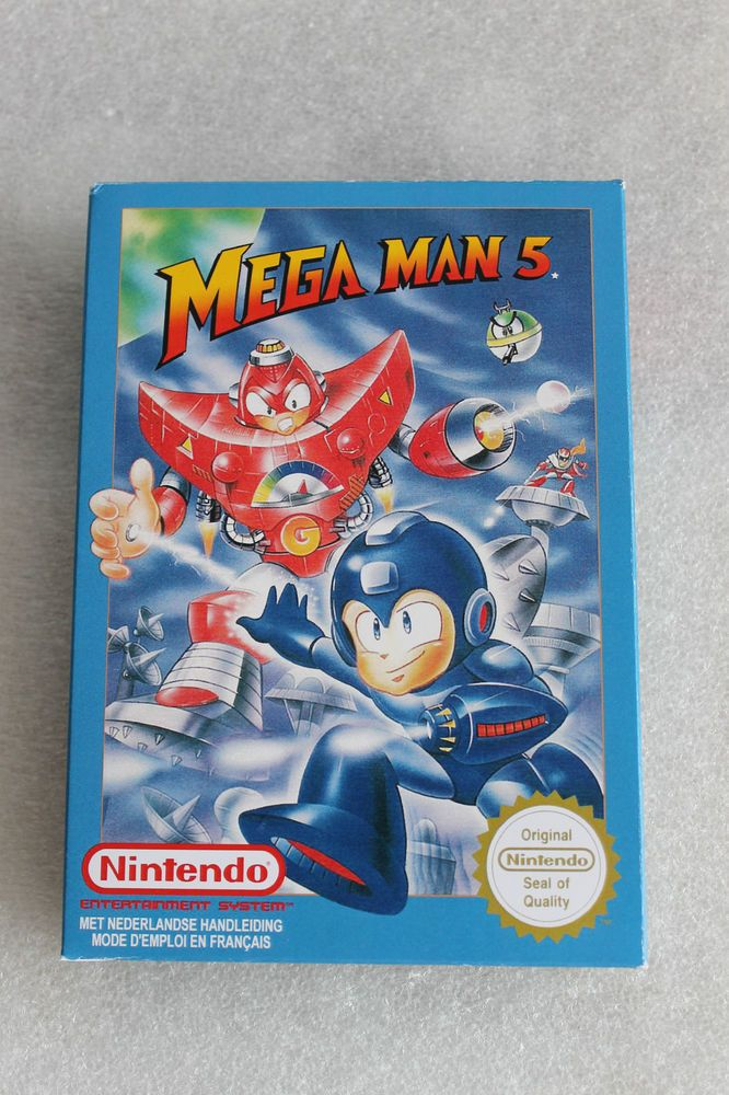NES MEGAMAN 5 BOX ONLY PAL B VERSION NEW NO GAME, NO MANUAL  OEM