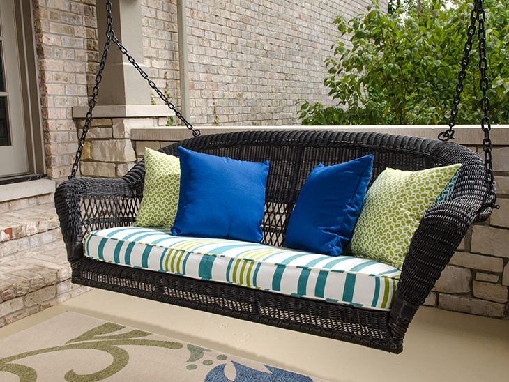 How To Make A Box Cushion For A Swing Porch Swing Cushions Porch Swing Outdoor Swing Cushions