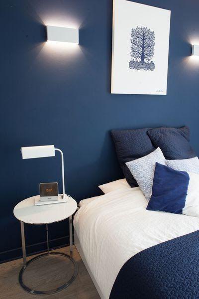 Une Chambre Toute En Douceur Dans Les Tons De Bleu Marine Deco