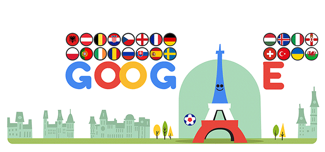 Google Doodle Marks Euro 2016 Soccer Competition Google Doodles Google Doodle Today Uefa Euro 2016
