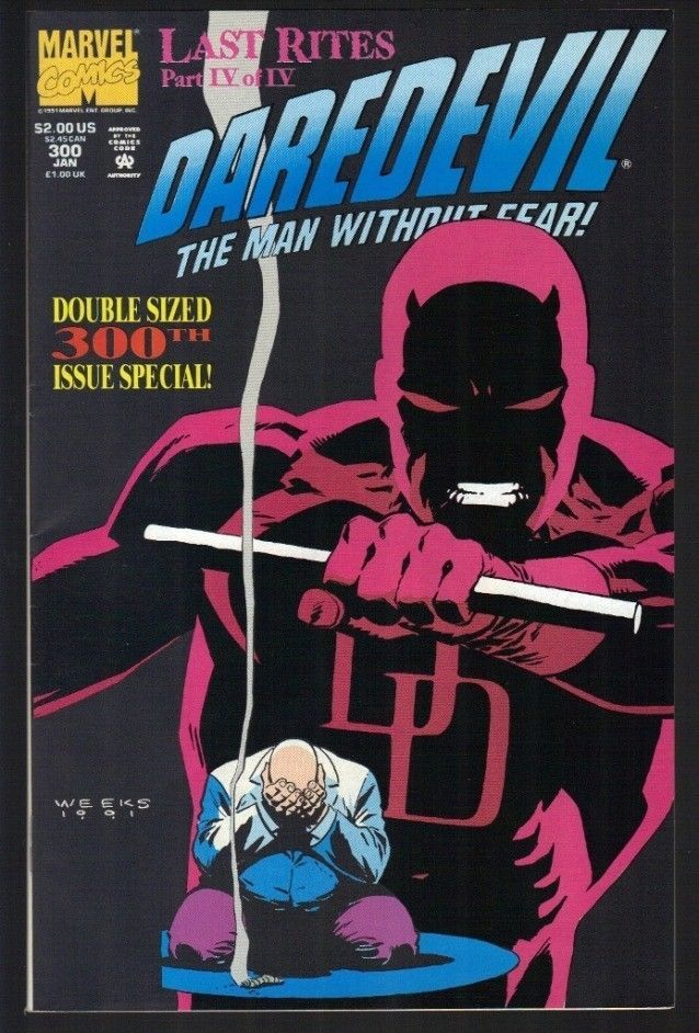 Daredevil #300 Jan 1992 Marvel Comic Book The Man Without Fear Last Rites