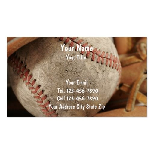 Baseball business cards business cards and business baseball business cards colourmoves Choice Image