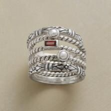 Each of our stackable sterling silver and gemstone rings keeps lovely company.
