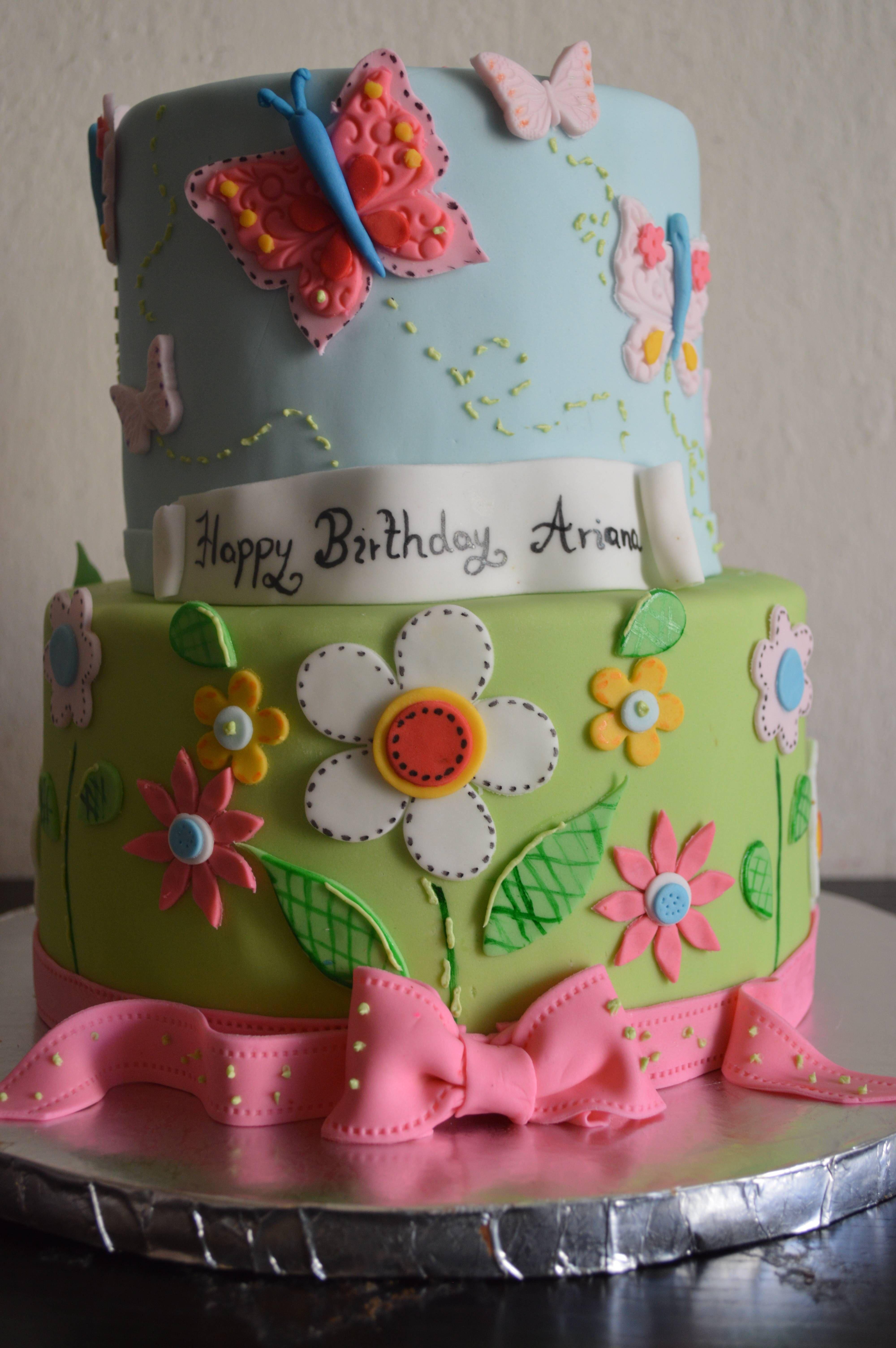 First birthday garden cake girl birthday cakes by anya pinterest first birthday garden cake izmirmasajfo