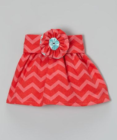Take a look at this Coral & Pink Zigzag Skirt & Sash - Infant, Toddler & Girls by Heavenly Things for Angels on Earth on #zulily today!