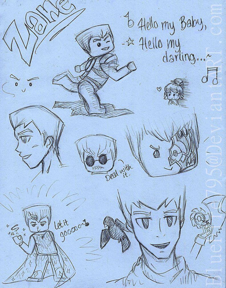 Zane Sketch Dump by BlueFire795