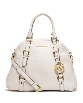 9e224ad566e2 MICHAEL Michael Kors Large Bedford Bowling Satchel. -- Still in my mind the  best design and shape for a white bag I've ever seen.
