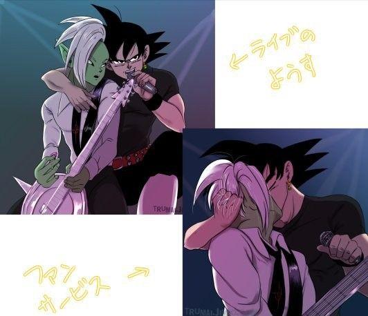 Omfg Yaaaaaaaaaassss B Black X Zamasu As Rockstars Dragon Ball Art Goku Black Dragon Ball
