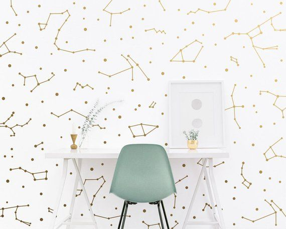 Constellation Wall Decals Constellation Wall Decor Zodiac Gift