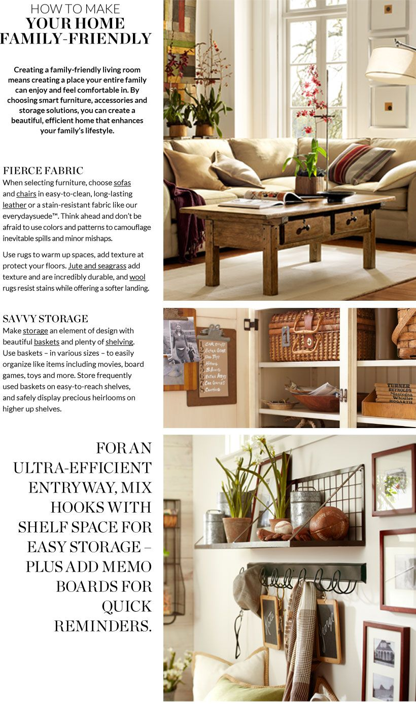 How to make your home family  friendly pottery barn also rh pinterest