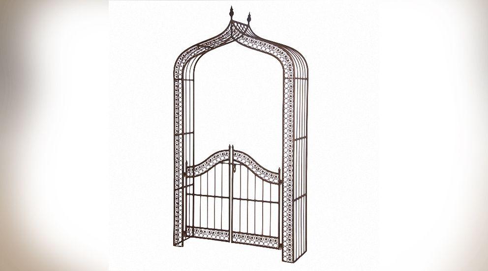 6183-arche-en-fer-forge-avec-portailjpg (992×552) Projet - Jardin