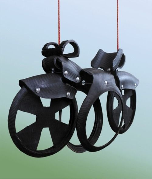 motorcycle tire swing as seen on trading spaces with vern