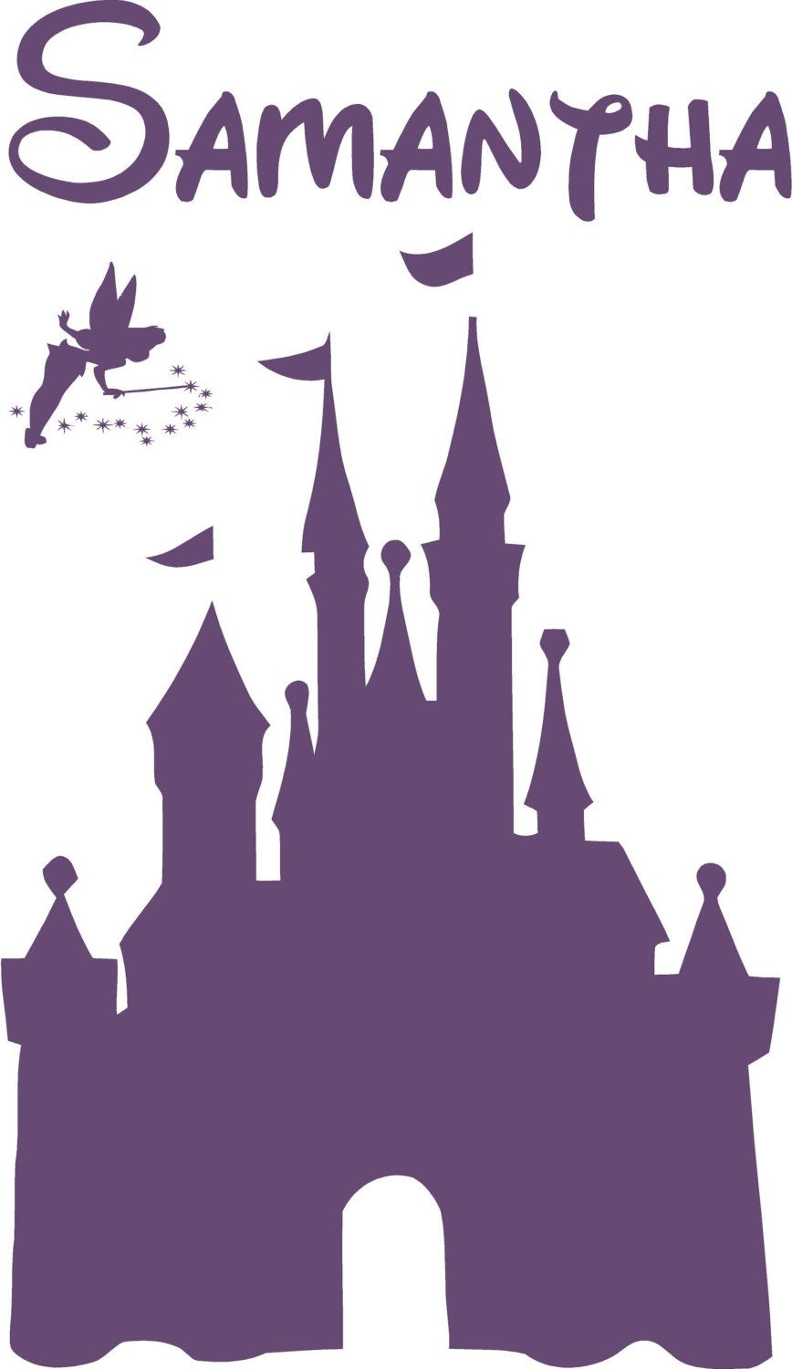 Disney CASTLE Personalized Name Vinyl Decal Wall Lettering Words - Custom vinyl decals barrie