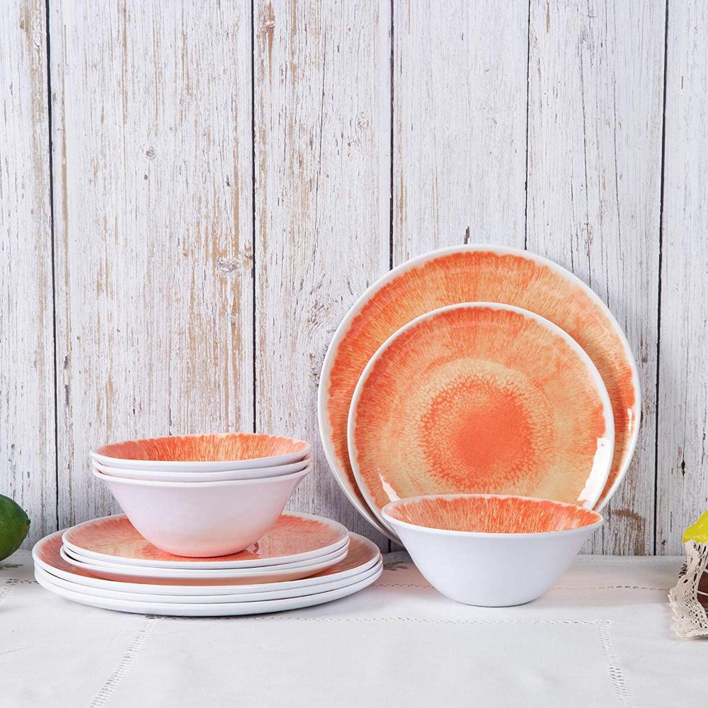 melamine dinnerware sets wood dishes