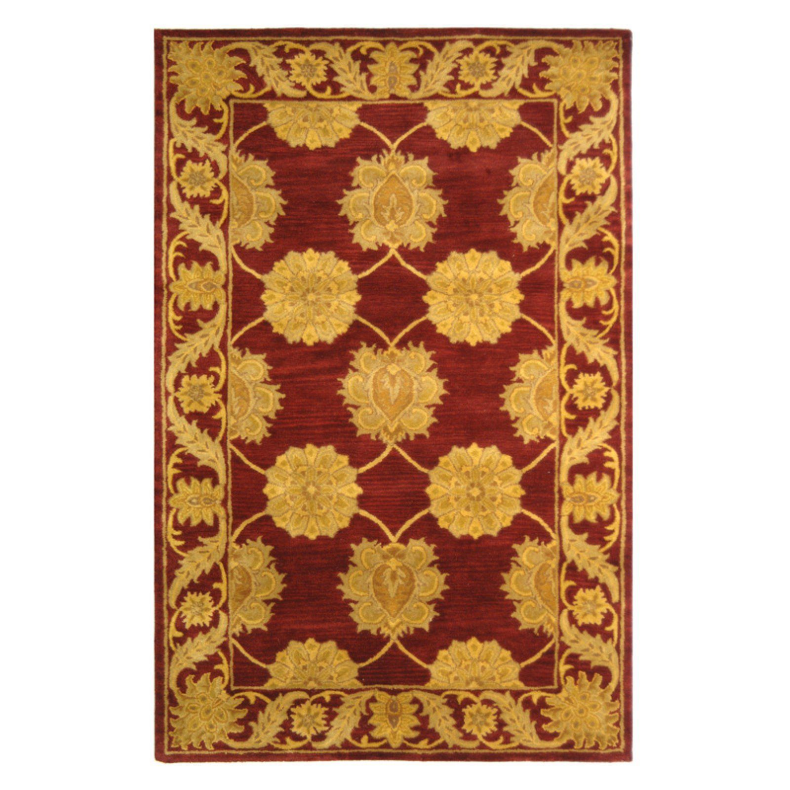 Attractive Design In Maroon Made From Hand Spun Wool Hand Tufted Construction With Cotton Backing Made In Indi In 2020 Area Rugs Traditional Area Rugs Colorful Rugs