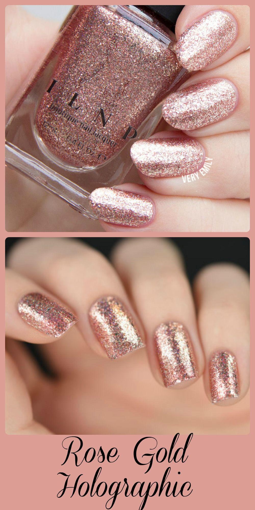 Juliette - Rose Gold Holographic Nail Polish #ad #nailpolish ...