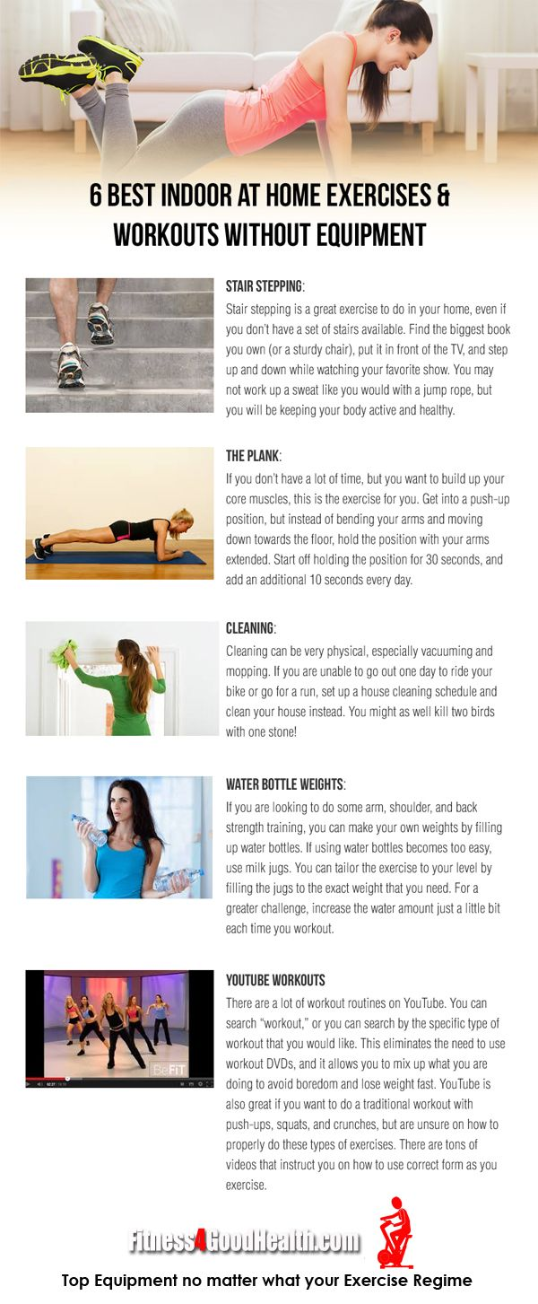 6 Best Home Workout Exercises without the need for equipment. This ...