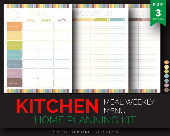 like the colour-scheme and the layout of this weekly menu planning