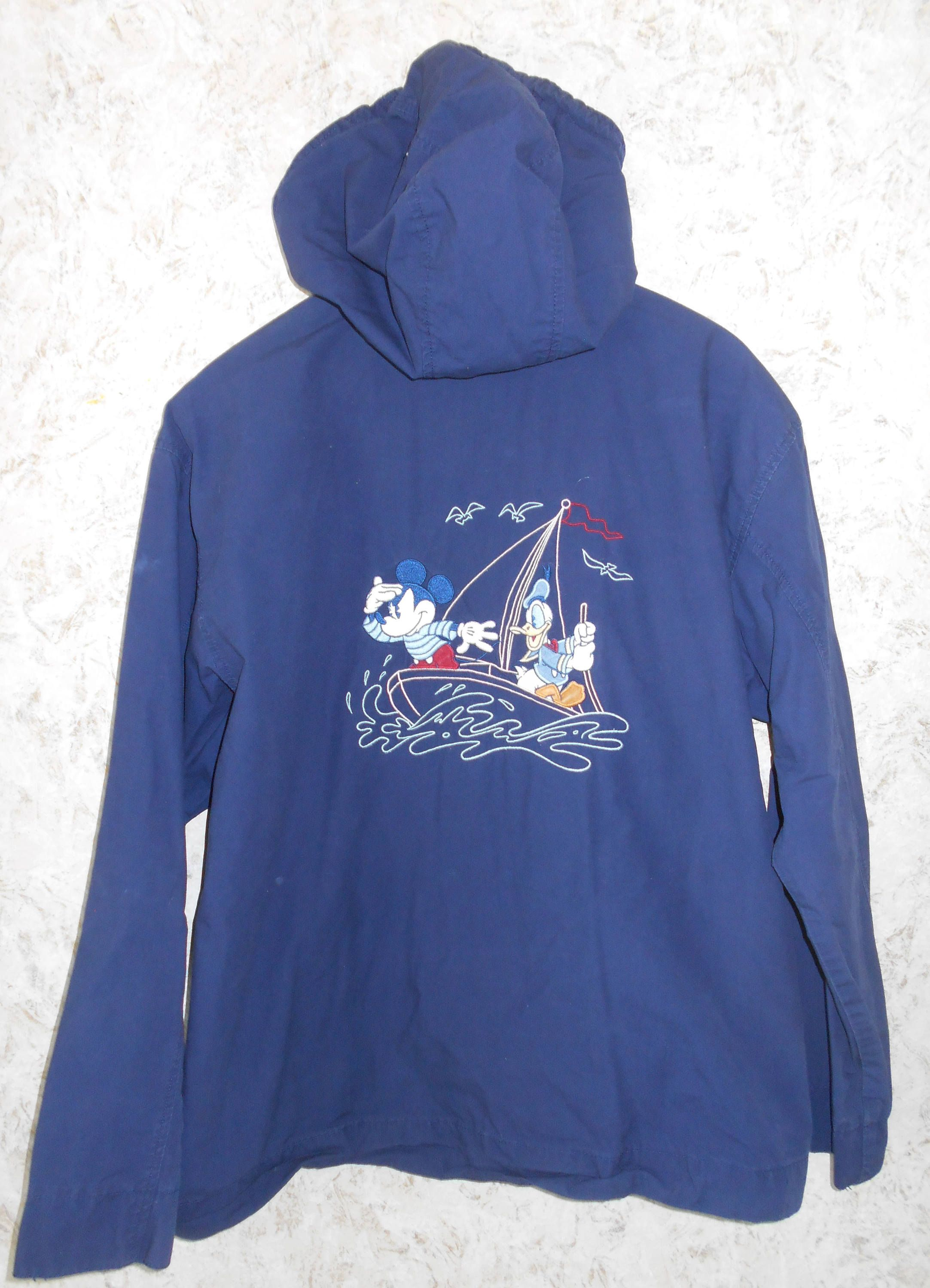 70a77226f8a Vintage Mickey Mouse Sailing Jacket Coat Hooded Donald Duck Embroidered  Back Zippered Front Boating Jacket Navy Blue Disney Womens Medium by  CoolDogVintage ...