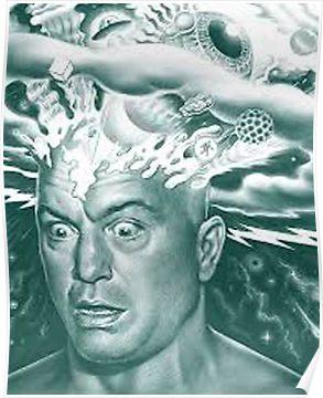 Joe Rogan Mind Blown Poster Joe Rogan Mind Blown Edgy Wallpaper