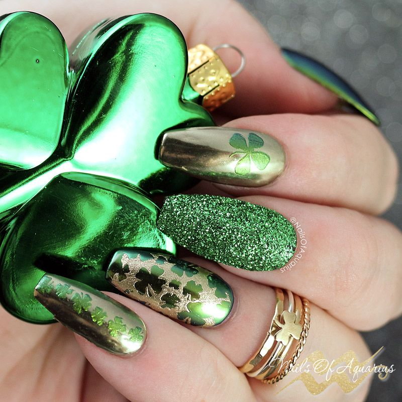 Lucky Charms: St. Patrick\'s Day Nail Art with Wildflowers Stamping Gel
