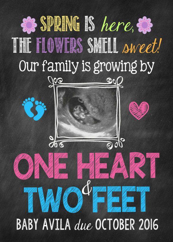 Spring Ultrasound Pregnancy Announcement Sonogram Spring ...