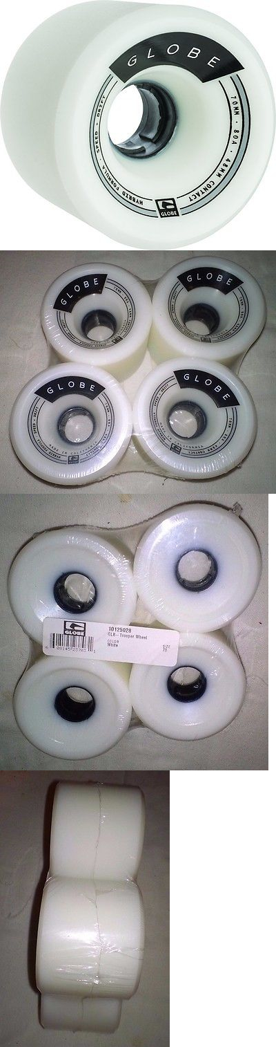 Wheels 165946: New And Unused - Globe Hg Trooper Longboard Wheels, White, 70Mm - Free Shipping! -> BUY IT NOW ONLY: $54.99 on eBay!