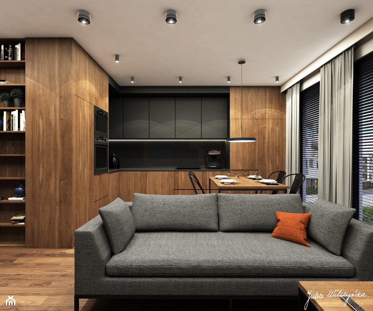 Sredni Salon Z Kuchnia Aranzacje Pomysly Inspiracje Strona 2 Homebook Modern Kitchen Design Modern Kitchen House