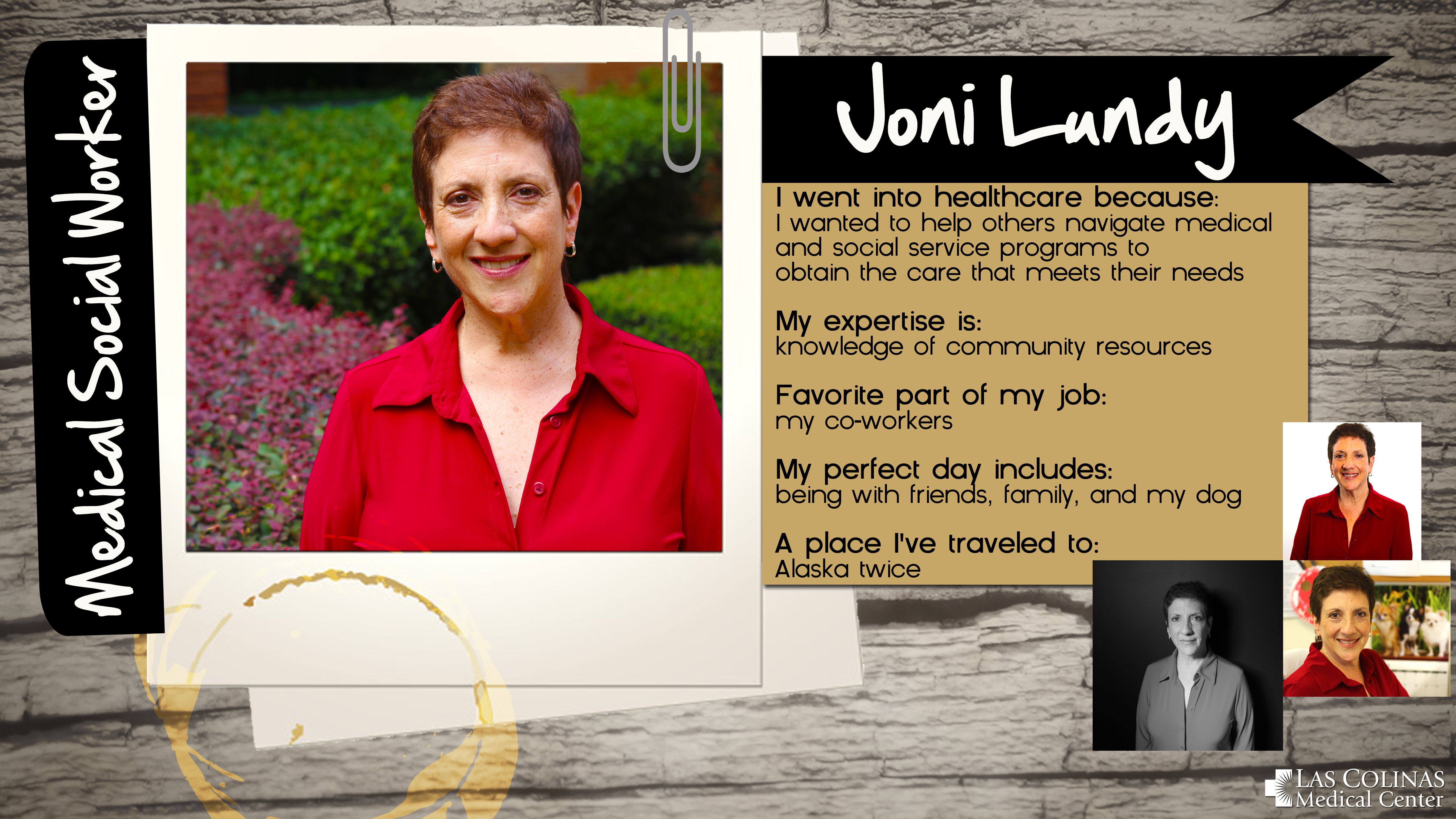 Meet one of our Medical Social Workers, Joni Lundy. We're