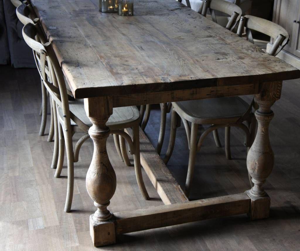 Landelijk wonen interieur tafel Eettafels   Eetkamer ...