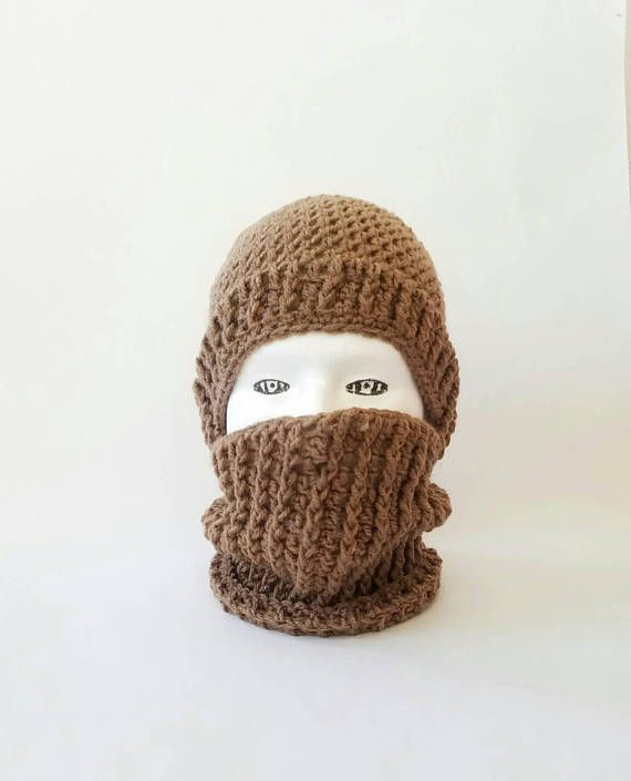 Handmade Crochet Ninja Mask Hat Custom Winter Ski Mask Airsoft ...