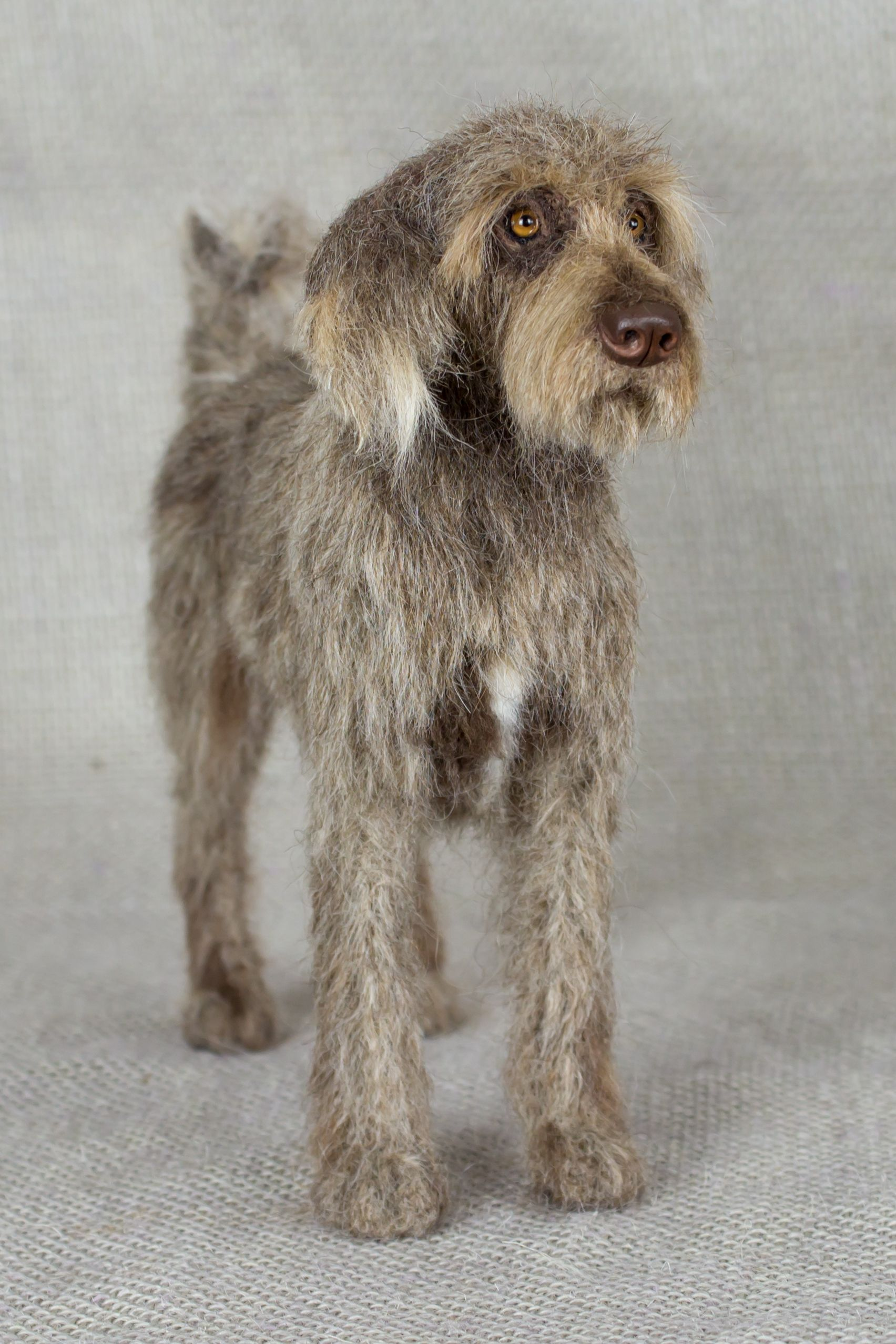 Bennie the Dog Needle felted animal sculpture by Megan