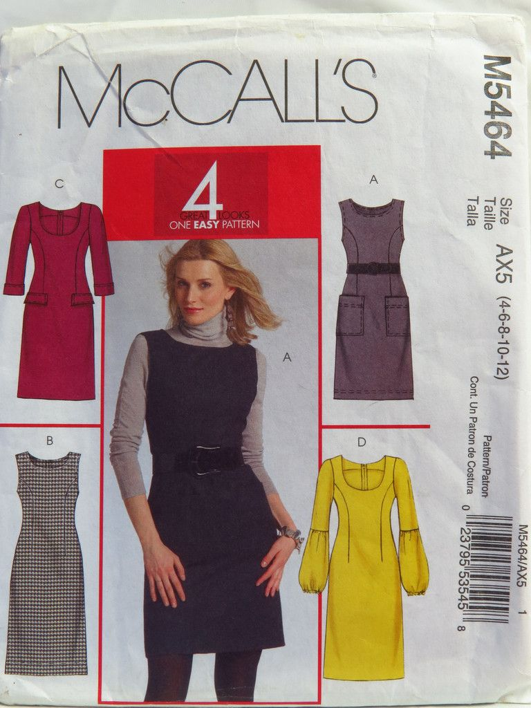 McCall's 5464 Misses' Jumpers and Dresses | 4 Great Looks
