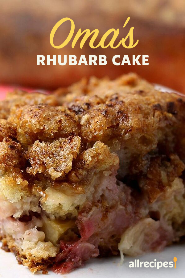 Oma S Rhubarb Cake Recipe In 2020 Rhubarb Cake Recipes Rhubarb Cake Rhubarb Recipes