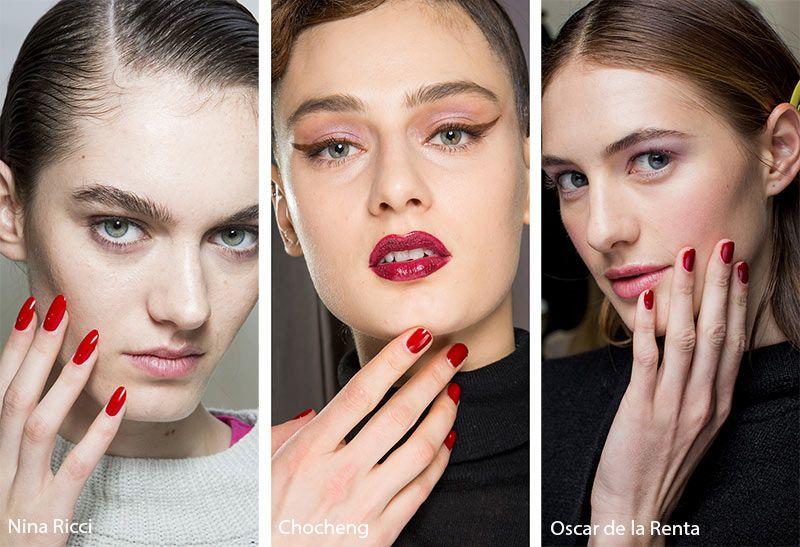 Fall Winter 2020 2021 Nail Trends Red Nail Polish Nail Trends Nail Colors Winter