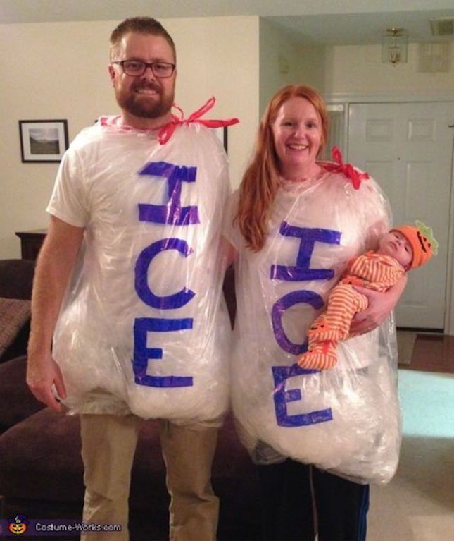 This Ice Ice Baby DIY family Halloween costume is too punny.  sc 1 st  Pinterest & 40 Fabulous Themed Family Halloween Costumes | Pinterest | Family ...