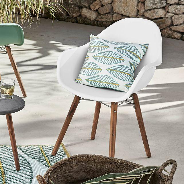 Stuhl aus Akzienholz, FSC 100, 63x57x83cm, weißStuhl aus Akzienholz
