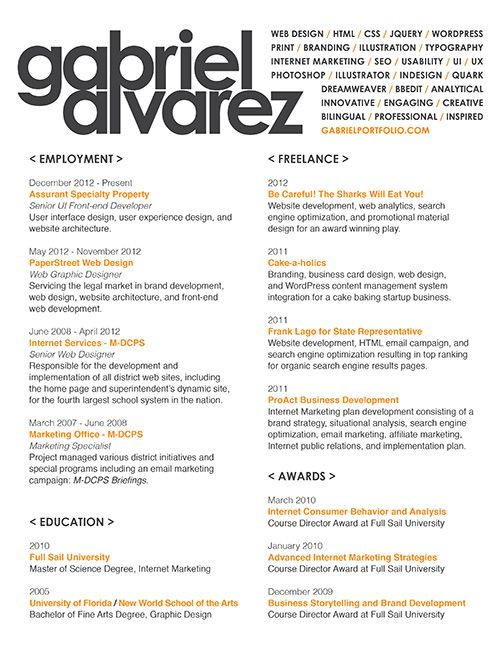 resume Graphic design Pinterest Fonts - marketing student resume
