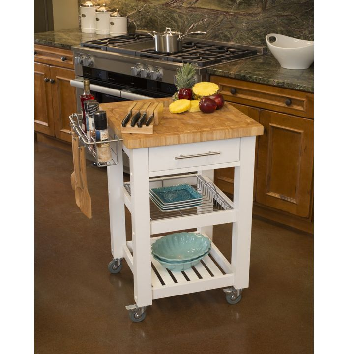 Marvelous Chris U0026 Chris Pro Chef Kitchen Cart Work Station JET3187   White | Kitchen  Carts And Products
