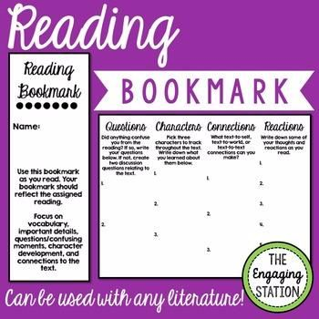 Double-Sided Interactive Reading Bookmark