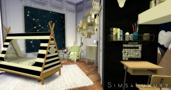 Sims4Luxury: Boy Room • Sims 4 Downloads | Sims 4 Bedroom, Boy Room, Sims House