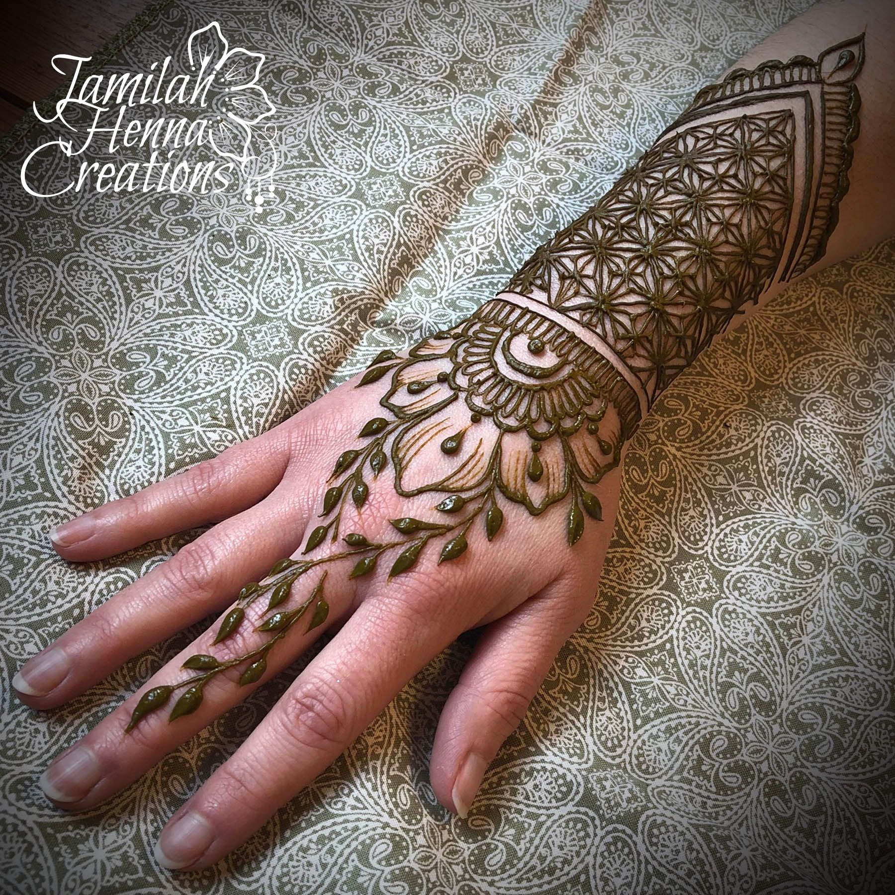 Henna Cuff Www Jamilahhennacreations Com: Warrior Cuff Zentangle Flower Henna Www